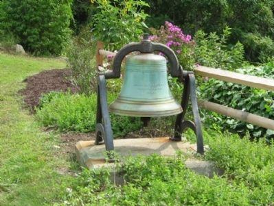 The bell is all that is left from the Bantam Methodist Church image. Click for full size.