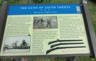 The Guns Of Jacob Sheetz Marker image. Click for full size.