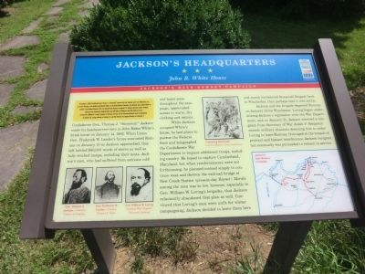Jackson''s Headquarters Marker image. Click for full size.