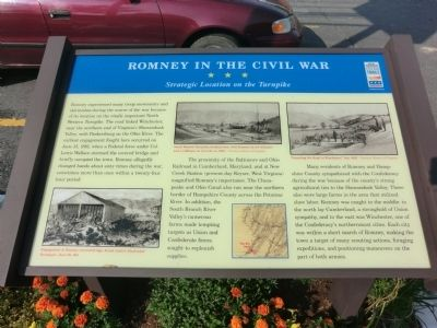 Romney In The Civil War Marker image. Click for full size.