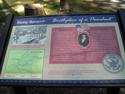 Stony Batter       Birthplace of a President Marker image. Click for full size.