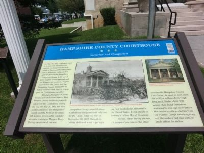 Hampshire County Courthouse Marker image. Click for full size.