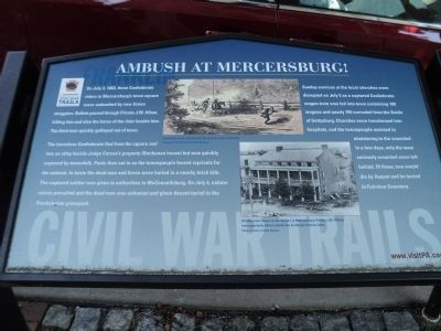 Ambush at Mercersburg Marker image. Click for full size.