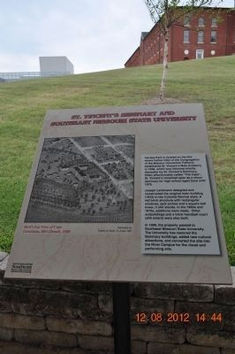 St Vincent's Seminary and Southeast Missouri State University Marker image. Click for full size.