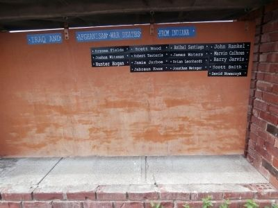East Side - - Honor Roll of Iraq and Afghanistan War Deaths from Indiana Marker image. Click for full size.