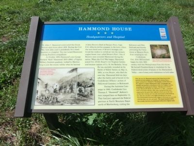 Hammond House Marker image. Click for full size.