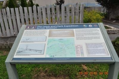 The Lewis and Clark Expedition Across Missouri Marker image. Click for full size.