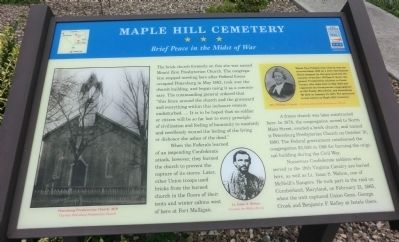 Maple Hill Cemetery Marker image. Click for full size.
