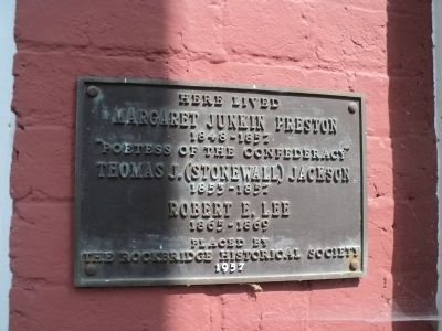 Lee-Jackson House Marker image. Click for full size.
