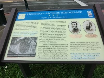 Stonewall Jackson Birthplace Marker image. Click for full size.