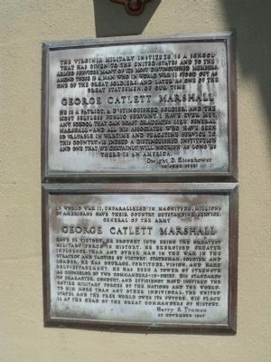 George Catlett Marshall Markers image. Click for full size.