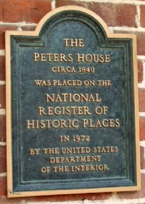 The Peters House NRHP Marker image. Click for full size.