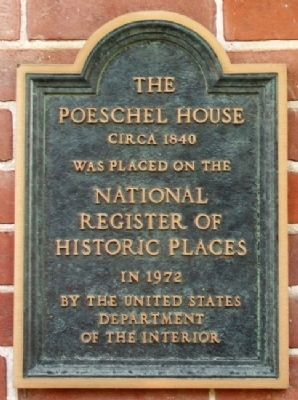 The Poeschel House NRHP Marker image. Click for full size.