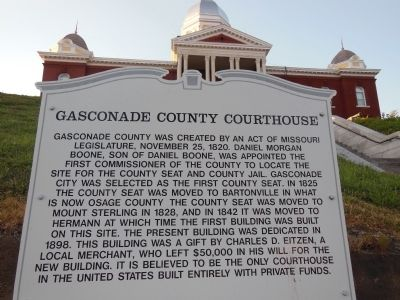 Gasconade County Courthouse Historical Marker image. Click for full size.