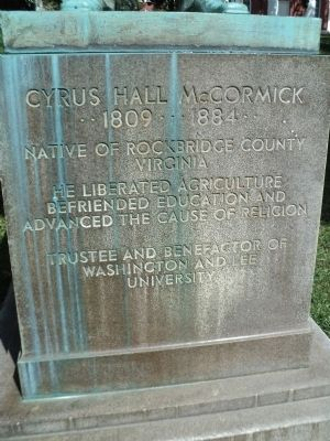 Cyrus Hall McCormick Marker image. Click for full size.