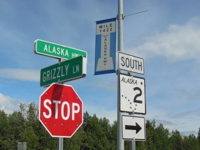 Milepost 1422 End of the Alaska Highway image. Click for full size.