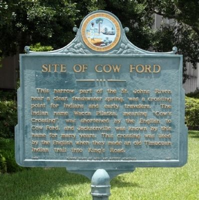 Site of Cow Ford Marker image. Click for full size.