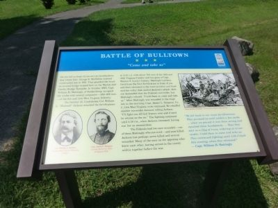 Battle of Bulltown Marker image. Click for full size.