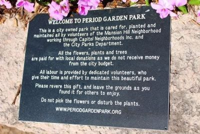 Welcome to Period Garden Park image. Click for full size.