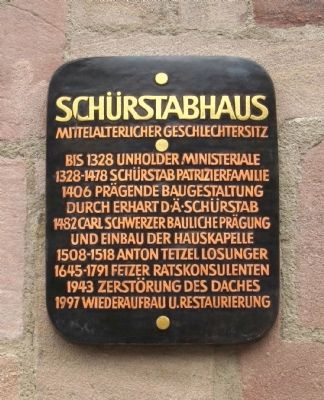 Schürstab House Marker image. Click for full size.