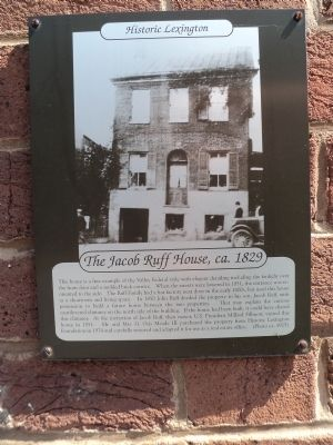 The Jacob Ruff House, ca. 1829 Marker image. Click for full size.