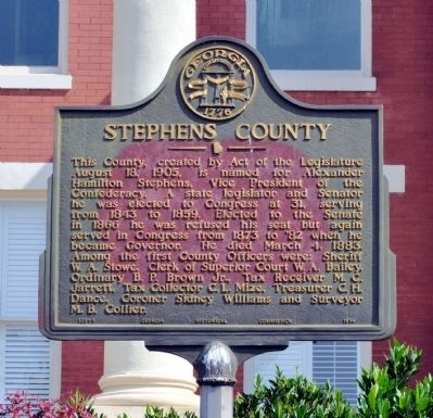 Stephens County Marker image. Click for full size.