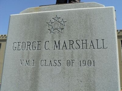 George C. Marshall Marker image. Click for full size.
