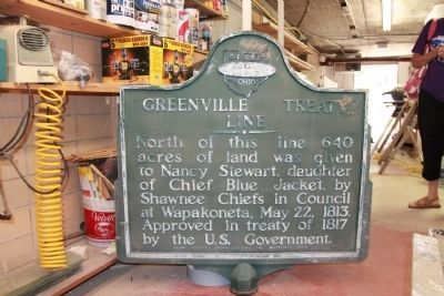 Greenville Treaty Line / Nancy Stewart Section Marker image. Click for full size.