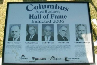 Columbus Area Business Hall of Fame 2006 Marker image. Click for full size.
