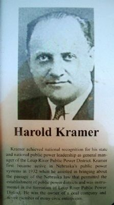 Harold Kramer on Columbus Area Business Hall of Fame Marker image. Click for full size.
