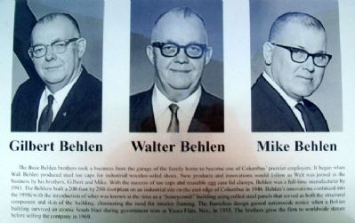 Behlen Brothers on Columbus Area Business Hall of Fame Marker image. Click for full size.