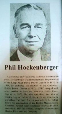 Phil Hockenberger on Columbus Area Business Hall of Fame Marker image. Click for full size.