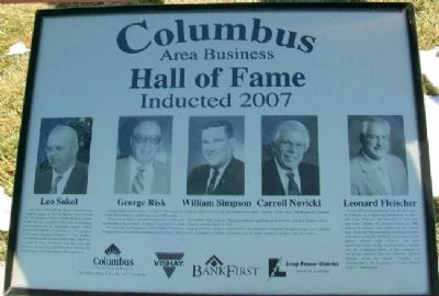 Columbus Area Business Chamber of Commerce 2007 Marker image. Click for full size.