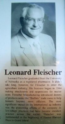 Leonard Fleisher on Columbus Area Business Hall of Fame Marker image. Click for full size.