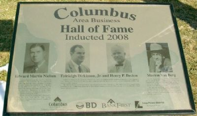 Columbus Area Business Hall of Fame 2008 Marker image. Click for full size.