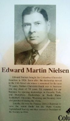 Edward Nielsen on Columbus Area Business Hall of Fame Marker image. Click for full size.