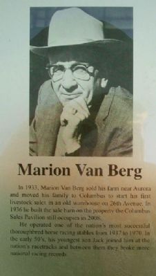 Marion Van Berg on Columbus Area Business Hall of Fame Marker image. Click for full size.