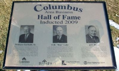 Columbus Area Business Hall of Fame 2009 Marker image. Click for full size.