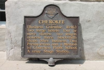 Cherokee Marker image. Click for full size.