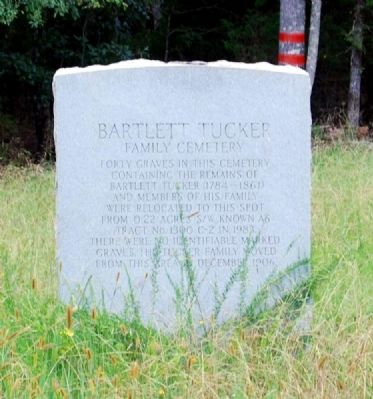 Bartlett Tucker Family Cemetery Marker image. Click for full size.