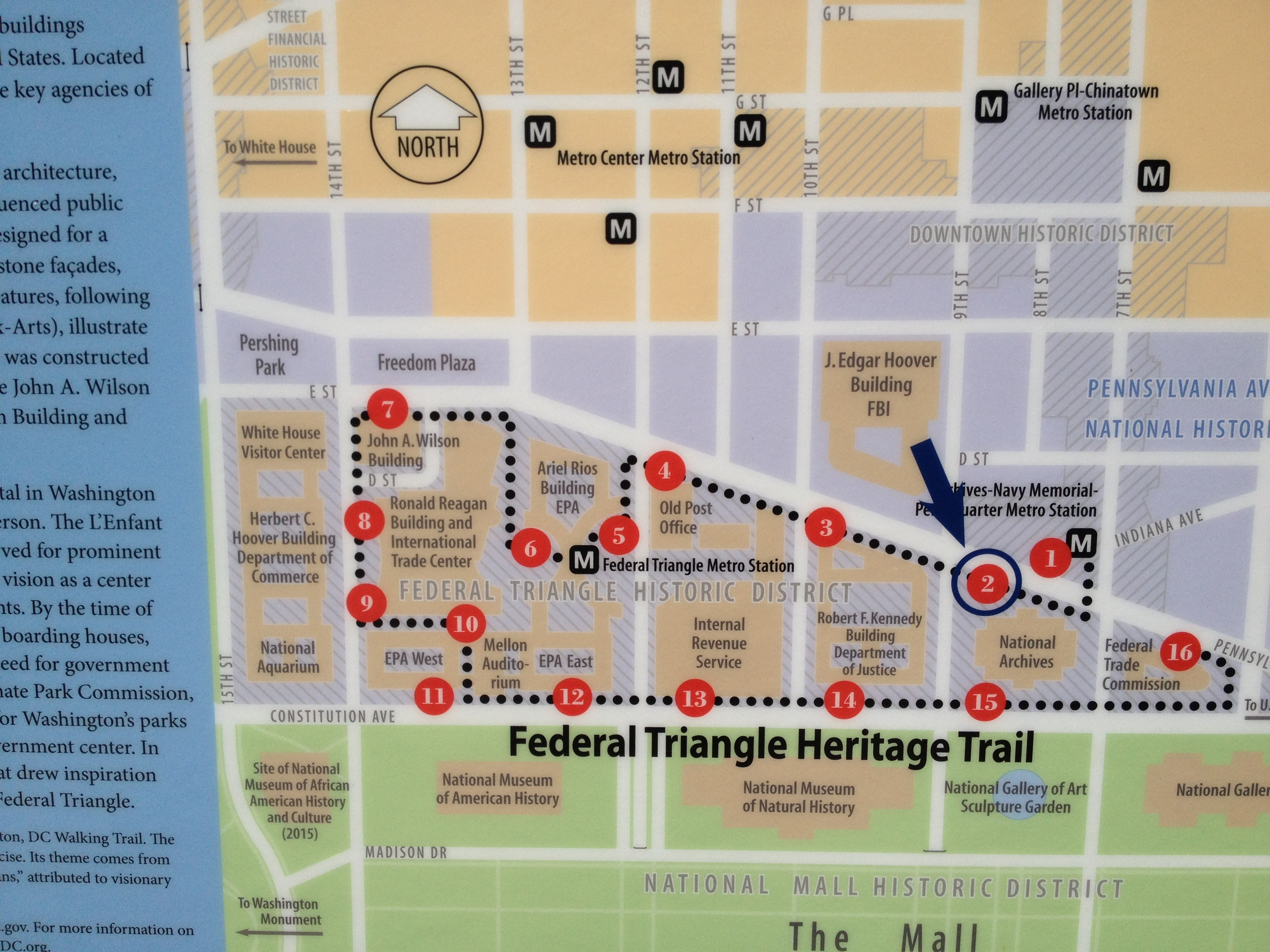 Map of the Federal Triangle Heritage Trail System