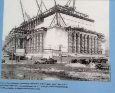 Construction of the National Archives image. Click for full size.
