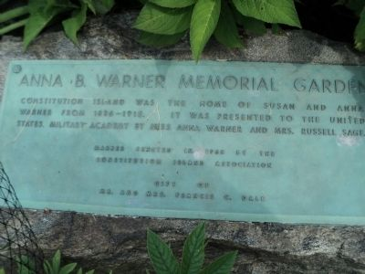 Anna B. Warner Memorial Garden Marker image. Click for full size.