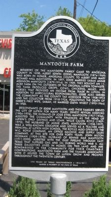 Mantooth Farm Marker image. Click for full size.