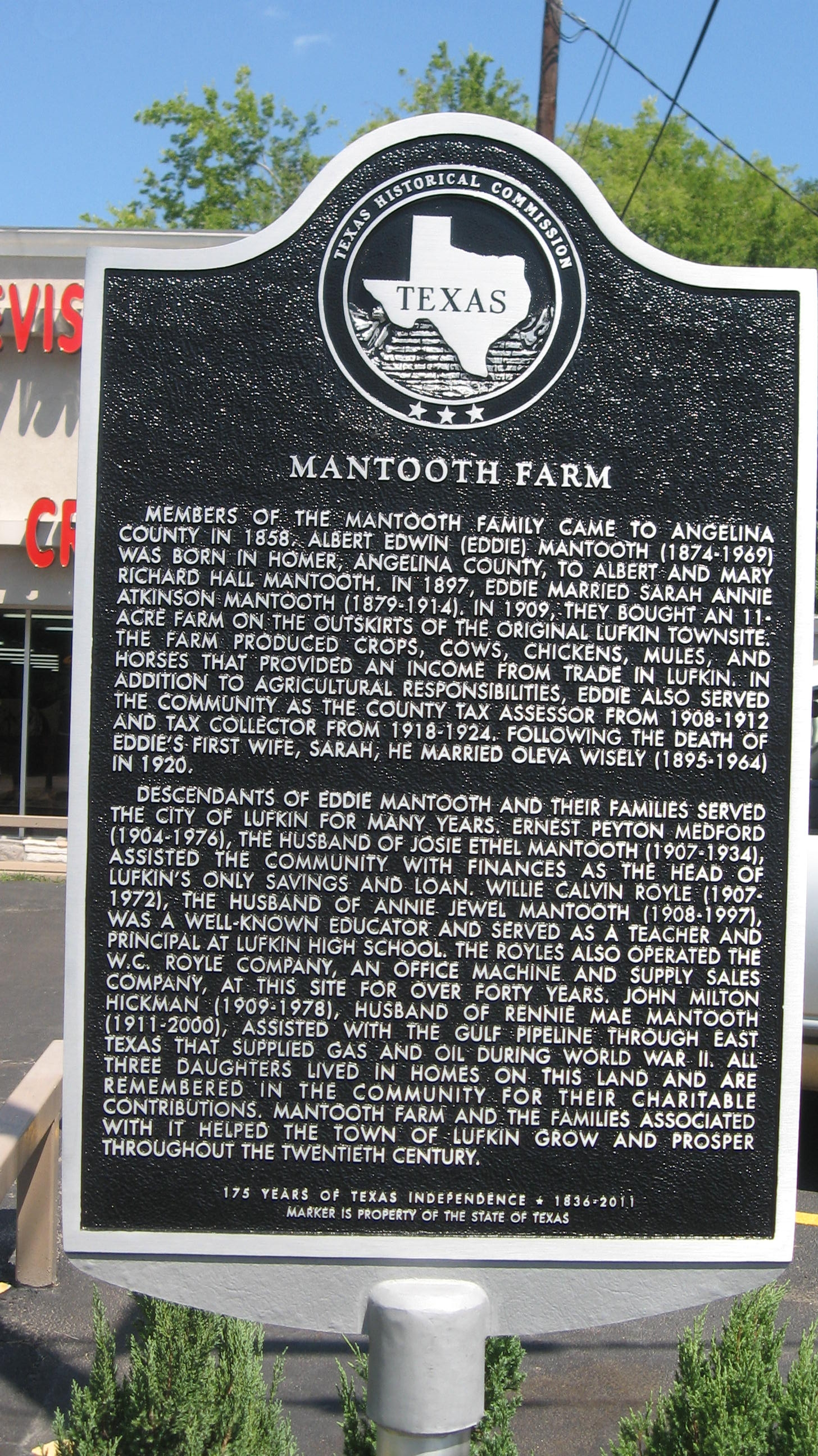 Mantooth Farm Marker
