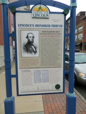 Lincoln's Honored Friend Marker image. Click for full size.