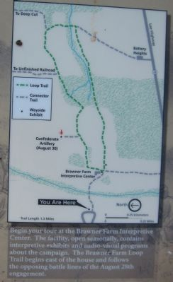 Brawner Farm Loop Trail Map image. Click for full size.