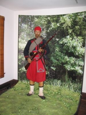 Zouave Exhibit at Brawner Farm Interpretive Center image. Click for full size.