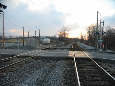 Railroad at the site of Duffield's Depot image. Click for full size.