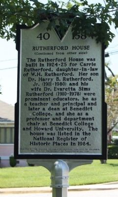 Rutherford House Marker image. Click for full size.